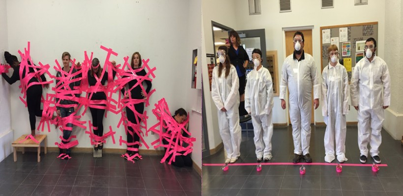 Department of Art Won First place on Pink Contest!