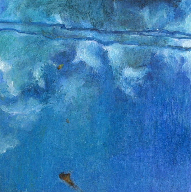 TCole_Wire-Reflections-in-Pool_2013_4'x4'_Oil