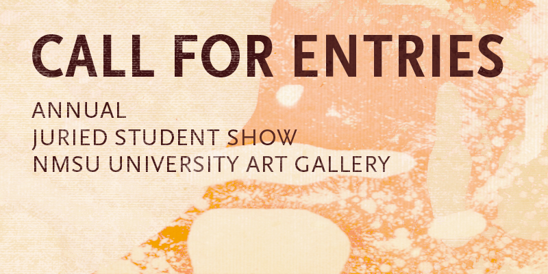 Annual JURIED STUDENT SHOW 2014 – apply now!