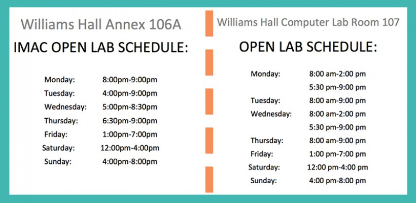 FALL 2015 Computer Lab Hours