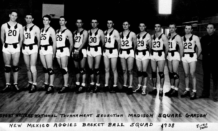 Aggie Basketball Squad in 1938